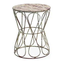 Go Home - Urban Farmhouse Knot Stool - Our Urban Farmhouse Collection is the definition of urban chic. Reclaimed wood, rusted iron and time worn accents insure that our unique collection of furniture, accessories and lighting will take center stage in any style of decor. Mix and match with our Industrial accessories for a stylish eclectic look your friends will think you paid a designer for.