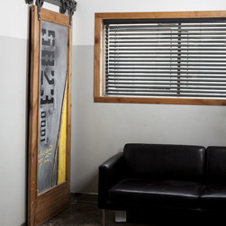 Sub Forest Barn Door - Give your room a feel of nature taking over with a modern industrial sub forest fusion. It's hard to describe this door, but easy to feel.
