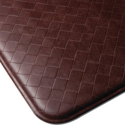 "Imprint Comfort Mats - Imprint Cumulus9 Comfort Mat 26 X 72, Cinnamon, 26"" X 72"", Nantucket - Number One Consumer Rated Anti Fatigue Comfort Mat.   Sink your feet into the Cumulus9 with its proprietary Multi-Core Technology. Feel how it conforms to the shape of your feet and supports your arches for relief of back, leg and foot discomfort. The advantage is its proprietary multilayer cushioning system. The soft, upper layer luxuriously cushions your feet while the firm, lower layer provides soothing support. You will want an Imprint Comfort Mat everywhere you work and stand _ kitchen, laundry, bathroom, garage,workshop and more. University tested and proven by the Center for Ergonomics to reduce overall fatigue and discomfort by up to 60%. No-curl edges and stay-flat memory ensure Imprint Mats will not  curl like other mats. Environmentally friendly, non-toxic and phthalate free .Safe for children and pets 7-year warranty. 100% satisfaction guarantee."