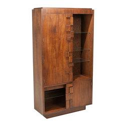 Lane - Consigned Mid Century Modern Brutalist Cabinet by Lane - • Mid Century Modern