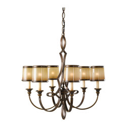 Murray Feiss - Astral Bronze Justine 6 Light 1 Tier Chandelier - Lamping Technologies: