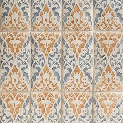 Duquesa Raffaela Decorative Tile in Mezzanote - Ceramic and Terracotta