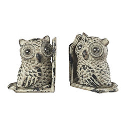 Sterling Industries - Owl Book Ends - Owl Book Ends