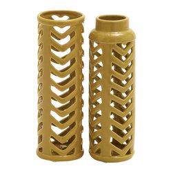 Extremely Useful Ceramic Vase, Set of 2 - Description: