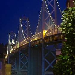 San Francisco Bay Bridge at night Artwork - An evening shot of the famous San Francisco Bay Bridge
