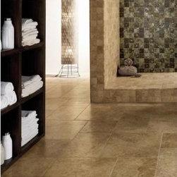 Laredo porcelain floor tile | Laredo walnut, camel, golden, amber -