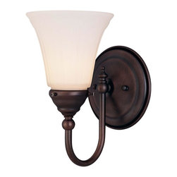 Savoy House - Savoy House-8-1062-1-13-Brunswick - One Light Wall Sconce - For a variety of Bathroom Spaces in English Bronze Finish; *GL779 Glass Sold Separately.