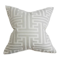 "The Pillow Collection - Roscoe Geometric Pillow Gray - This accent pillow displays a sleek geometric pattern in muted gray hues. This home accessory creates a subtle change to your decor style in an instant. This 18"" pillow looks great on its own and easily blends with other decor styles. Crafted with a blend of high-quality materials: 74% cotton and 26% polyester. Hidden zipper closure for easy cover removal.  Knife edge finish on all four sides.  Reversible pillow with the same fabric on the back side.  Spot cleaning suggested."