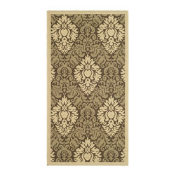 Safavieh - Safavieh Courtyard Country & Floral Rug X-5-9003-4172YC - Safavieh takes classic beauty outside of the home with the launch of their Courtyard Collection. Made in Belgium with enhanced polypropylene for extra durability, these rugs are suitable for anywhere inside or outside of the house. To achieve more intricate and elaborate details in the designs, Safavieh used a specially-developed sisal weave.