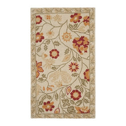 Safavieh - Safavieh Chelsea Transitional Hand Hooked Wool Rug X-82-A617KH - 100% pure virgin wool pile, hand-hooked to a durable Cotton backing. American Country and turn-of-the-century European designs. This collection is handmade in China exclusively for Safavieh.