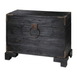 Uttermost - Uttermost 24305 Carino Wooden Trunk Table - Uttermost 24305 Carino Wooden Trunk Table