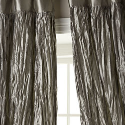 """Dian Austin Couture Home Crushed Silk Dupioni Curtains - Add sophisticated glamour to any room with crushed silk dupioni curtains offered in a stunning array of colors. Made of crushed silk dupioni. Lined and weighted. Approximately 54""""W, with 6"""" rod pocket."""