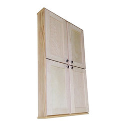 None - Shaker Series 48-inch Double Door Wall Cabinet - Spice up your home decor with this Shaker Series cabinet. This will mount on the wall with built in cleats inside for an easy installation. This sleek cabinet completes with fully adjustable glass shelves in each side of the cabinet.