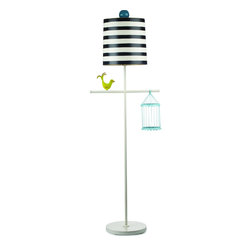 Dr. Hunt Floor Lamp - This whimsical floor lamp, hand-painted and made by artisans in Mexico, is definitely a statement piece for any child's room.