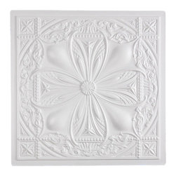 """Avalon Ceiling Tile - White - Perfect for both commercial and residential applications, these tiles are made from thick .03"""" vinyl plastic. Their lightweight yet durable construction make these tiles easy to install. Waterproof, these tiles are washable and won't stain due to humidity or mildew. A perfect choice for anyone wanting to add that designer touch at an amazing price."""