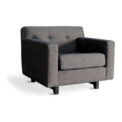 Gus Modern Rochelle Chair in Urban Tweed Truffle
