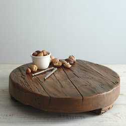 Round Wooden Trivet - Now, this would be a big splurge for me, but this wood trivet is such a stunning conversation piece. Rustic is not the best word to describe my home, but it can be nudged that way with partyware like this.