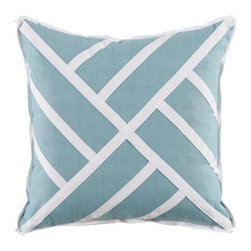 Chinese Chippendale Pillow - Ice Linen - Clayton Gray Home -