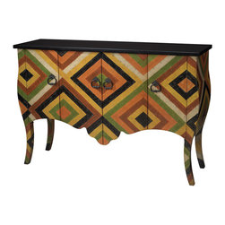 Sterling Industries - African Print Chest - African Print Chest by Sterling Industries