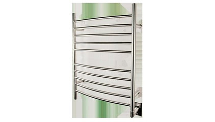 Faucet Stop - RADIANT CURVED HARDWIRED TOWEL WARMER, RWH-CP, AMBA, POLISHED