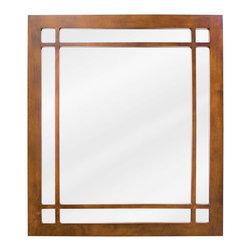 Hardware Resources - Westcott Wright Jeffrey Alexander Mirror 21 x 1 x 24 - 21 x 24 Chestnut mirror with fretwork detail and beveled glass