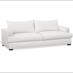 Hampton Sofa, White - Everything about this is right for a calm night at home.