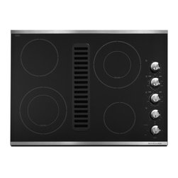 "KitchenAid - Architect Series II KECD807XSS 30"" Smoothtop Electric Cooktop With 4 Radiant Ele - It all started in 1919 with the legendary stand mixer In the 90 years since they have built an entire kitchen of cooking and cleaning products around the same quality craftsmanship versatile technology and timeless style Through it all the secret ing..."