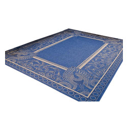 Safavieh - Safavieh Courtyard Cy2965-3103 Blue / Natural Area Rug - Traditional patterns and classic beauty are found in the area rugs of the Courtyard collection. Made in Belgium of enhanced polypropylene, these rugs are extremely durable and perfect for indoor or outdoor use. The area rugs of the Safavieh Courtyard collection offer highly detailed and sophisticated designs created through an unusual sisal weave. Select the colors, design, and style that will compliment any room in your home in round, rectangular or runner rugs.