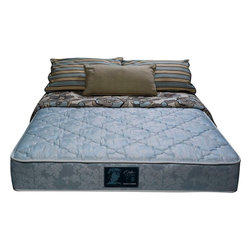 """Wolf Corp - Orthopedic Deluxe Firm Twin Mattress - The Orthopedic Deluxe Firm Mattress features high-density foam encasement construction. Wolf's advanced cotton and polyester quilt with premium damask cover helps the body breathe and maintain an ideal sleeping temperature throughout the night. The Ortho Ultra Firm is for those looking for a solid sleeping surface that will last for years to come. Premium quality, ultra firm foam encased 10"""" rollable mattress.; 336 high profile coil unit; foam encased border; internally made Wolf bonded posture pad for extra support; luxury damask quilt for extra conforming comfort; Dimensions: 10""""H x 38""""W x 75""""D"""