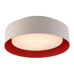 Bromi Design Lynch White & Red Drum Pendant