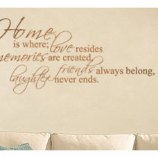 Contemporary Wall Decals by Trading Phrases
