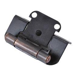 Hickory Hardware - Bronze Surface Self-Closing Hinge 2-Pack (Set of 10) - Hinge.
