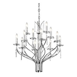 Kichler Lighting - Kichler Lighting Aliso Modern / Contemporary Chandelier X-HC82924 - Classic yet modern, this Kichler Lighting chandelier is a great way to add some flair to any room from the foyer to the dining room, to the kitchen and beyond. From the Aliso Collection, it features multiple tiers of candelabra style lights that highlight the traditional appeal. Meanwhile, a stunning chrome finish and crystal accents add a modern yet classic appeal that pulls the look together.
