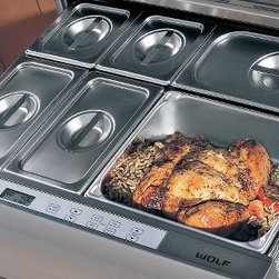 "Wolf 30"" Warming Drawer - Don't let the name fool you. The warm drawer is temperature controlled, meaning it keeps your turkey hot and your salad cool. You can even warm your towels in it."