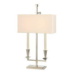 Hudson Valley Lighting - Hudson Valley Lighting L305-PN Table Lamp in Polished Nickel - Hudson Valley Lighting L305-PN Cite Bouilotte Collection Traditional Table Lamp in Polished Nickel