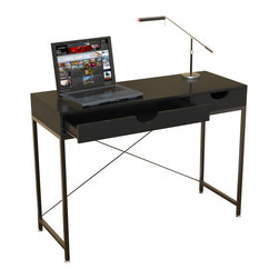 """Convenience Concepts - Convenience Concepts Desk X-663131 - The spacious yet stylish Catalina Desk is perfect for any home office or student. Featuring an open cross bar back, two drawers and a 42"""" workspace, this will be one purchase you'll never regret."""