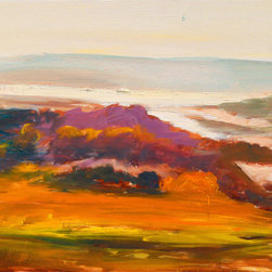 """Ann Rea - Bring home Marin, California with """"Marin Melts Dusk"""" by Ann Rea, oil painting - """"The color of dusk in Marin melts together towards the evening."""" -Ann Rea"""