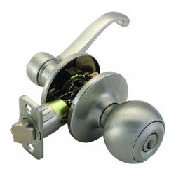 DHI-Corp - Scroll Universal Latch Entry Door Knob and Handle, Adjustable Backset - The Design House 741058 Scroll Universal Latch Entry Door Lever and Handle accepts a key on one side of the lock but is operated by a turn-button knob on the other side. Finished in satin nickel and designed for left or right hand doors, this knob fits the two most common backsets in the U.S. (2-3/4-inch and 2-3/8-inch). The 1/2-inch latch bolt is plated in nickel and does not budge once in place. Entry levers are often used on front doors and back doors. Use this lever on standard 1-3/8-inch and 1-3/4-inch thick doors. This product has a 1-inch drive-in latch, 2-1/4-inch radius corner face plate, square corner face plate and 5-pin security. If you are preparing your door for installation, the cross bore should be 2-1/8-inches in diameter and the edge bore should be 1-inch in diameter. This product is ANSI Grade-3 certified, which means this knob is rated for residential security. The Design House 741058 Scroll Universal Latch Entry Door Lever and Handle comes with a limited lifetime mechanical warranty and a 5-year finish warranty that protect against defects in material and workmanship. Design House offers products in multiple home decor categories including lighting, ceiling fans, hardware and plumbing products. With years of hands-on experience, Design House understands every aspect of the home decor industry, and devotes itself to providing quality products across the home decor spectrum. Providing value to their customers, Design House uses industry leading merchandising solutions and innovative programs. Design House is committed to providing high quality products for your home improvement projects.