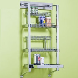 Orginnovations PegRail 18 in. Spice Rack Set - Put spices, coffee, and your inventories into the Orginnovations PegRail 18 in. Spice Rack Set. Take a look at this rack with all your spices in it and get inspired for the next meal you´ll cook. This rack looks very good in front of colored walls, and comes with two wire spice racks and one 16-inch wire shelf. Tidy up your kitchen.About Orginnovations Inc.With a vast selection of storage solutions for your closets, kitchen, office, utility room, and even your wine collection, Orginnovations Inc. looks to provide the best in quality materials, design, and construction. Their storage solutions are easy to install, functional, stylish, flexible, and deliver heavy duty weight capacity. They have excellent customer service and over 40 authorized dealers throughout the US. They even offer custom sizing on closets.