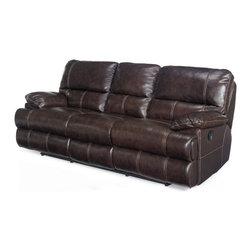 Hooker Furniture - Hooker Furniture Two-Recliners Sofa SS606-03-089 - Leather: Espresso
