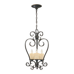 World Imports - World Imports 5953-97 Stafford Spring Dark Antique Bronze Pendant - World Imports 5953-97 Stafford Spring 3-Light Foyer Light in Dark Antique Bronze