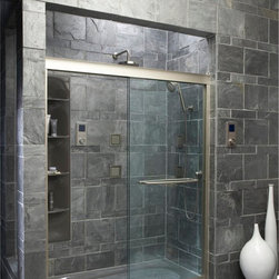 "KOHLER - KOHLER K-702217-L-SHP Fluence 3/8"" thick Glass Bypass Shower Door in Bright Poli - KOHLER K-702217-L-SHP Fluence 3/8"" thick Glass Bypass Shower Door in Bright Polished Silver"