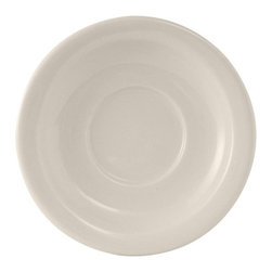 Tuxton - Reno/Nevada 5 1/2 inch Saucer Narrow Rim Eggshell American White - Case of 36 - Our plates and dishes are designed to combine with insulated domes bases and other innovative food systems for extended heat retention. High volume is the perfect partner for the Reno/Nevada collection. Casual dining never looked so good.