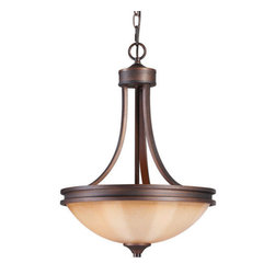 Golden Lighting - Golden Lighting 1051-3P Craftsman / Mission Three Light Bowl Pendant from the Hi - Craftsman / Mission Three Light Bowl Pendant from the Hidalgo CollectionFeatures: