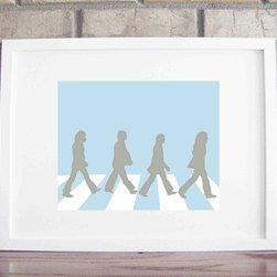 Beatles Collections Print By Lily Gene - My sister-in-law found this adorable silhouette of The Beatles, which is available in many different colors. Her husband was psyched to have his favorite band represented in the nursery!
