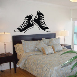 ColorfulHall Co., LTD - Kids Wall Decals Casual Sport Canvas Shoes Design - Kids Wall Decals Casual Sport Canvas Shoes Design