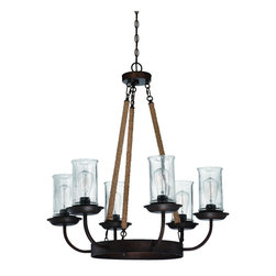 Jeremiah Lighting - Aged Bronze Thornton 6 Light Mid-Sized Chandelier - Jeremiah Lighting 36126-ABZ Thornton 6-Light Chandelier This Jeremiah Lighting 6-light chandelier has an aged bronze finish. It is available with clear