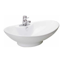 Renovators Supply - Vessel Sinks White Atlantis Vessel Sink | 10807 - Vessel Sinks Above Counter: Made of Grade A vitreous China these sinks easily endure daily wear and tear. Our protective RENO-GLOSS finish resists common household stains and makes it an EASY CLEAN wipe-off surface. Ergonomic and elegant easy reach design reduces daily strain placed on your body. SPACE-SAVING design maximizes limited bathroom space. Easy, above counter installation let's you select from many faucet styles and countertop designs, sold separately. Measures 25 1/2 inch W x 17 inch projection