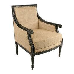 NOIR - NOIR Furniture - Isabelle Club Chair - SOF117C, Hand Rubbed Black - Features: