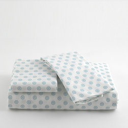 Traditions Linens - Dottie Teal Sheet Set - Dottie Teal Sheet Set